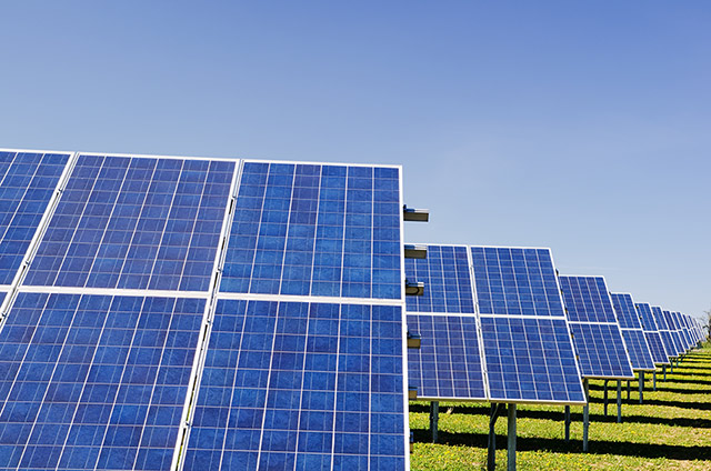 What is Eco-Tourism - Solar panels in a field