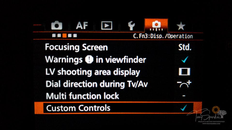 Custom Menu Screen